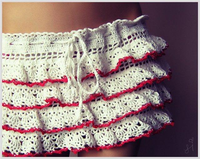 схемы вязания ажурной юбки