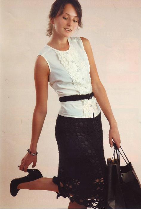Вязание крючком юбки все о моде