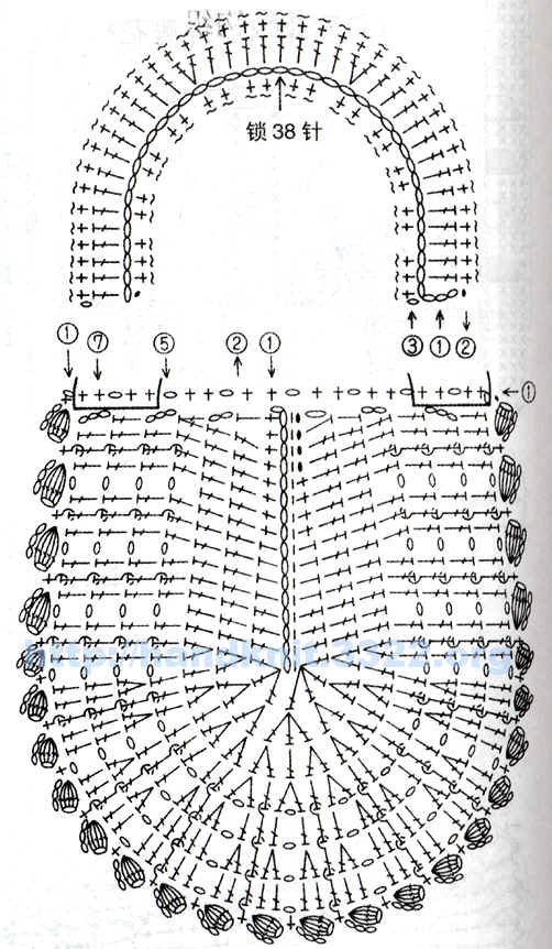 Схема вязания. Вязание крючком